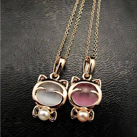 Golden Cat Necklace - Catify.co