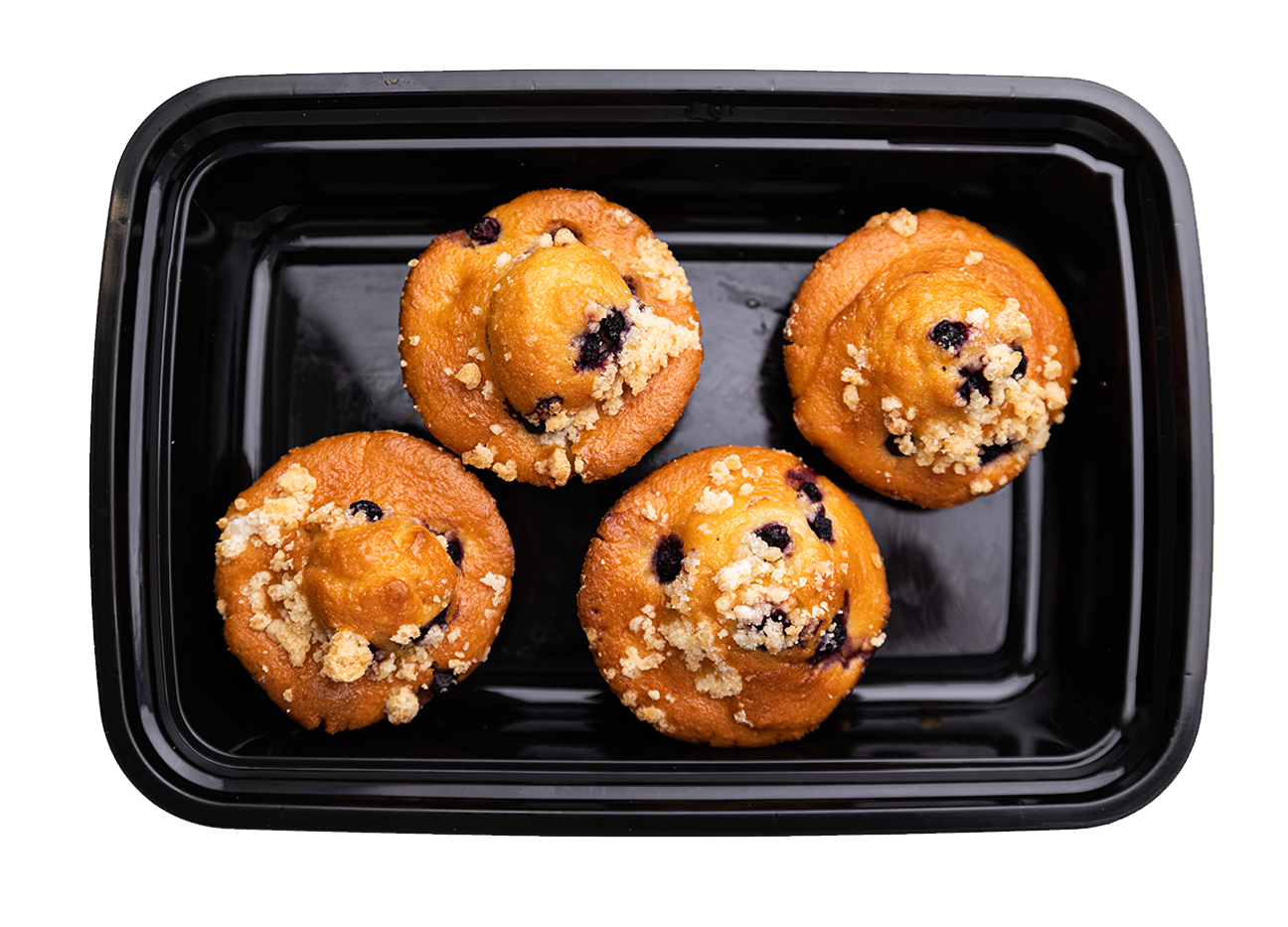 NEW! Blueberry Crumb Muffins