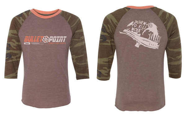 Full Metal Jacket Raglan T-Shirt (Eco True Brown/Camo)