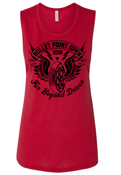 Bullet Point Open 2018 Women's Flowy Muscle Tank
