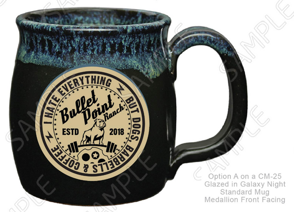 Bullet Point Ranch Mug - Galaxy Night