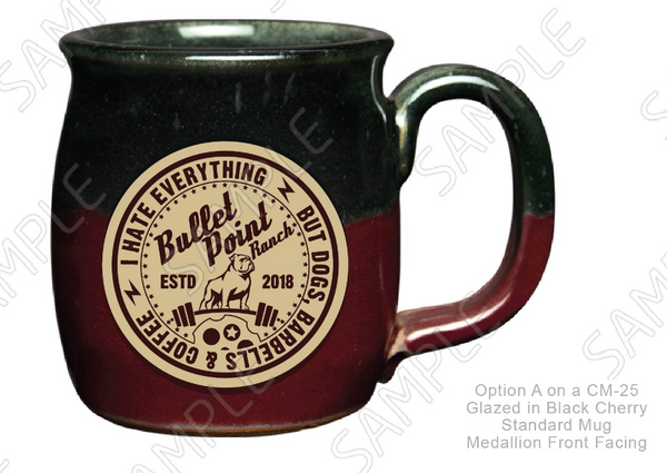 Bullet Point Ranch Mug - Black Cherry