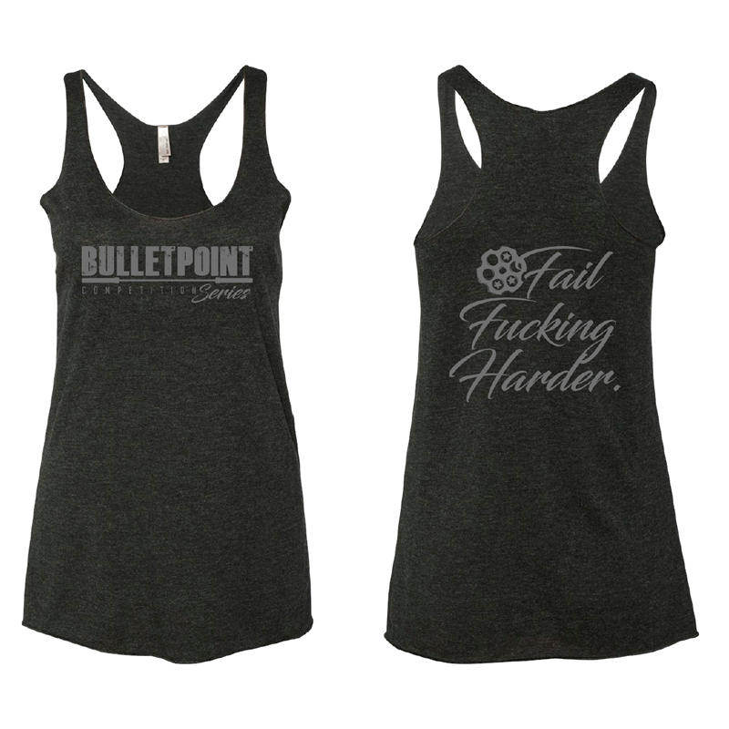 Murdered Out Fail F*@cking Harder Tank - Black