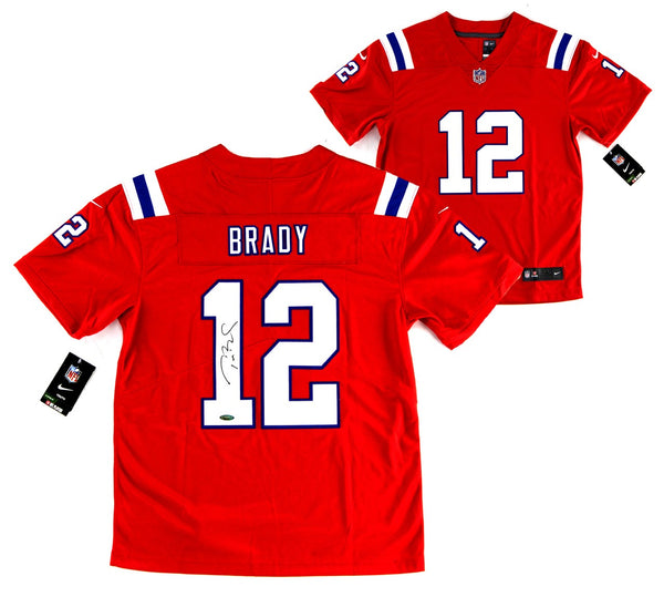 Tom Brady Signed New England Patriots Nike Limited Red Jersey