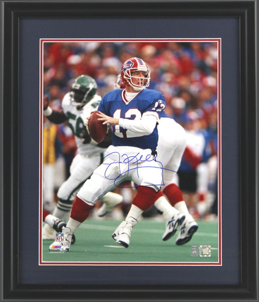 Jim Kelly Signed Framed 27x23 Buffalo Bills 16x20 NFL Photo