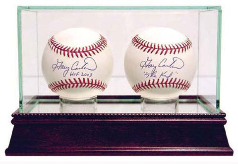 Glass Double Baseball Case