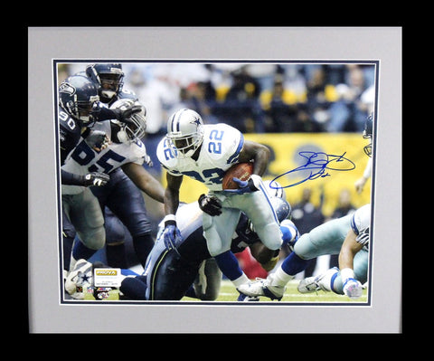 Emmitt Smith Signed Dallas Cowboys Framed 16x20 Photo - Rushing Record Shot