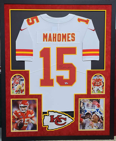 Patrick Mahomes Autographed Framed White Chiefs Nike Jersey