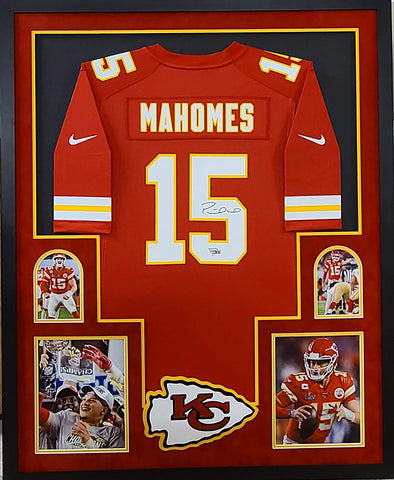 Patrick Mahomes Autographed Framed Red Chiefs Nike Jersey