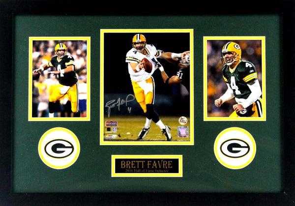 Brett Favre Signed Green Bay Packers Framed 8x10 NFL Photo - Monday Night Football