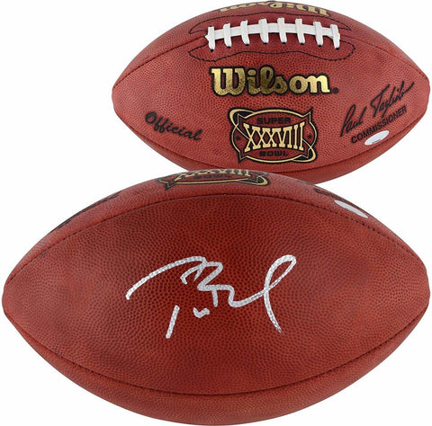 Tom Brady New England Patriots Signed Super Bowl 38 Duke Football