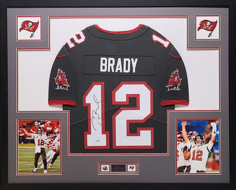 Tom Brady Tampa Bay Buccaneers Framed Autographed Pewter Nike Game Jersey