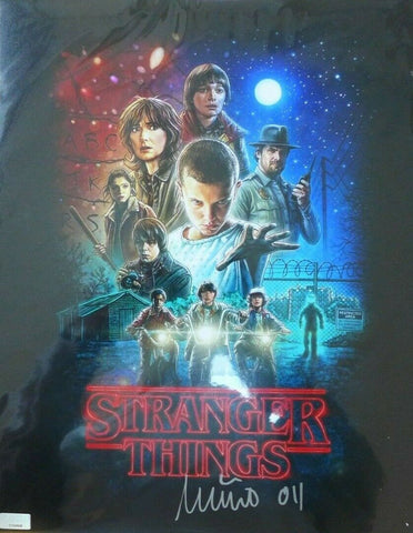 "Millie Bobby Brown Signed Stranger Things Poster 11x14 With ""Eleven"" Inscription"