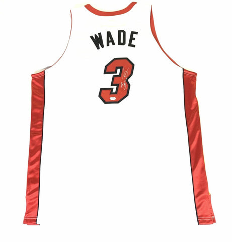Dwyane Wade Autographed White Miami Heat Jersey - PSA/DNA Auth
