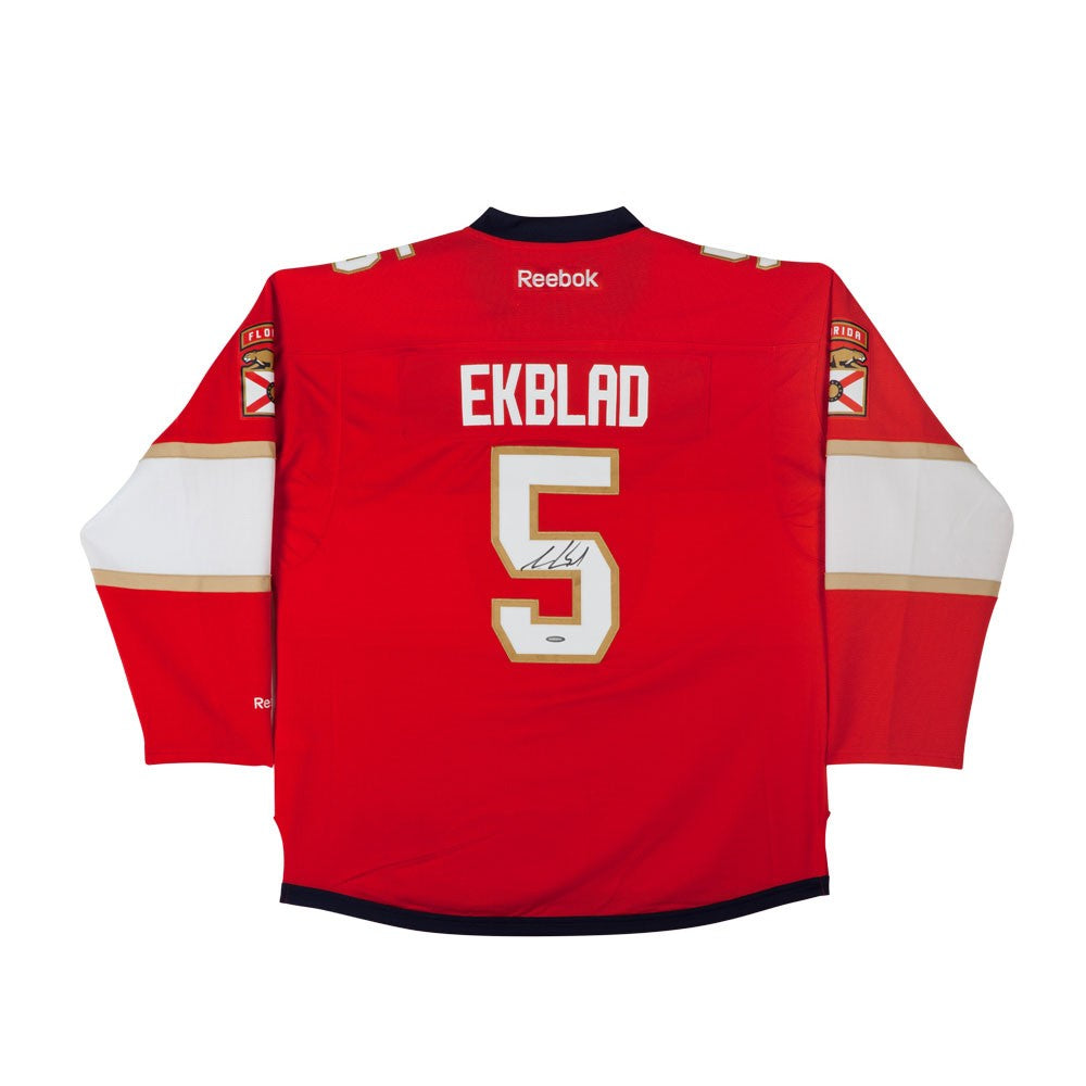 new arrival 094fd 78a2e Aaron Ekblad Autographed Florida Panthers Red Premier Jersey