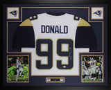 Aaron Donald Autographed & Framed White Los Angeles Rams Jersey JSA COA D2-L