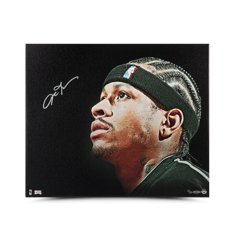 Allen Iverson Autographed Up Close & Personal 20 x 24 Canvas