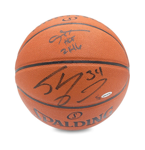 Allen Iverson & Shaquille O'Neal Autographed & Inscribed Spalding Indoor/Outdoor Basketball