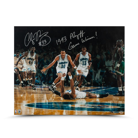 Alonzo Mourning Autographed & Inscribed '93 Playoff Game Winner 16 x 20