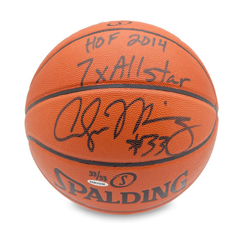 Alonzo Mourning Autographed & Inscribed Replica Basketball