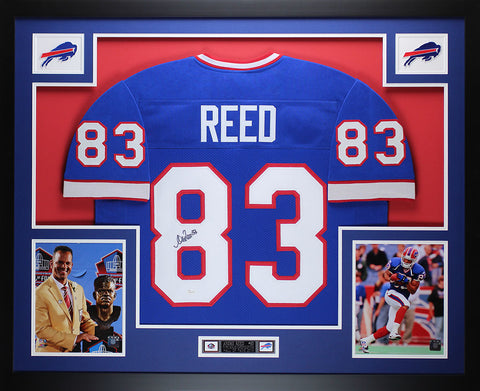 Andre Reed Autographed and Framed Blue Bills Jersey Auto JSA COA (D3-L)