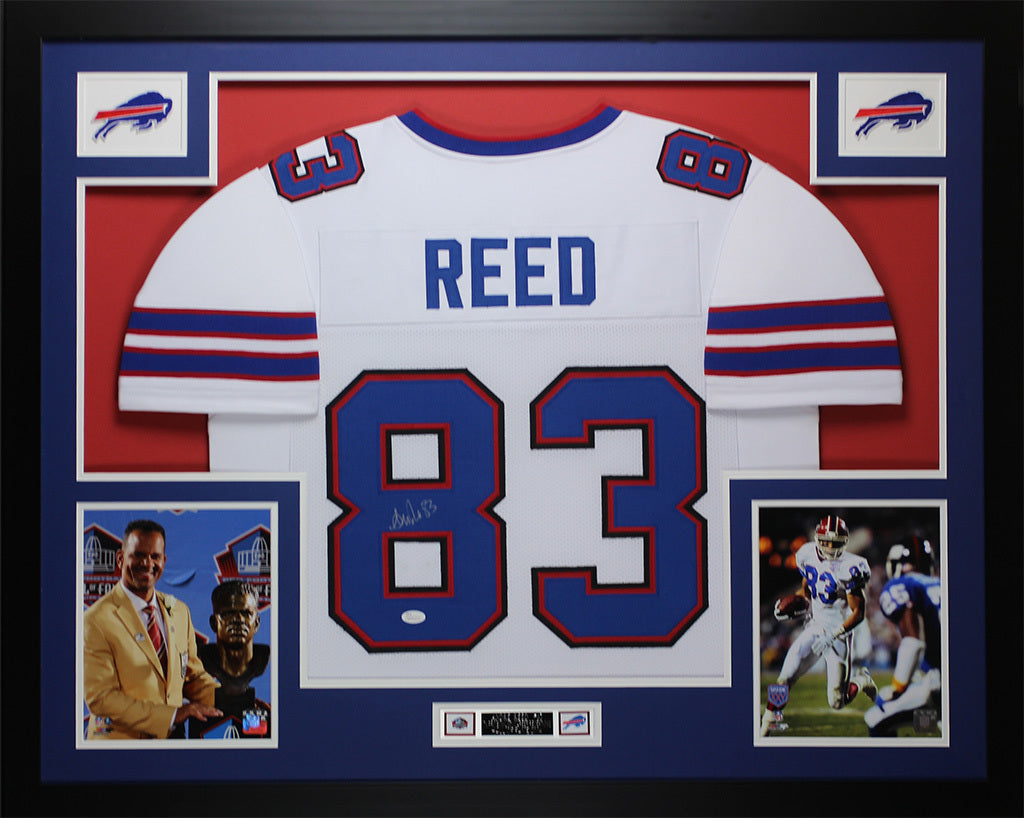 competitive price 8795a a5ce4 Andre Reed Autographed and Framed White Bills Jersey Auto JSA COA D4-L