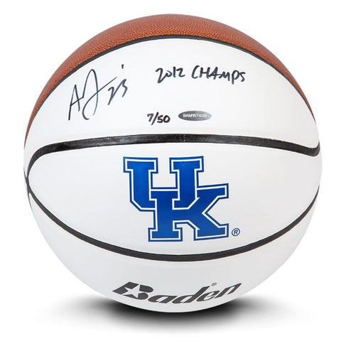 Anthony Davis Autographed & Inscribed Baden Collegiate Basketball