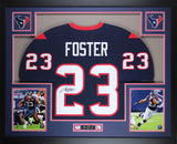 Arian Foster Autographed and Framed Blue Texans Jersey Auto JSA certified
