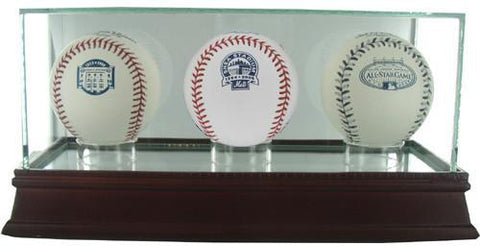Glass Triple Baseball Case