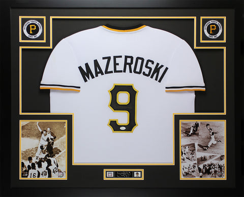 Bill Mazeroski Autographed & Framed White Pittsburgh Pirates Jersey JSA COA