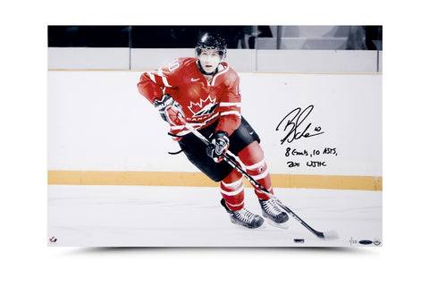 Brayden Schenn Signed & Inscribed Team Canada Picture