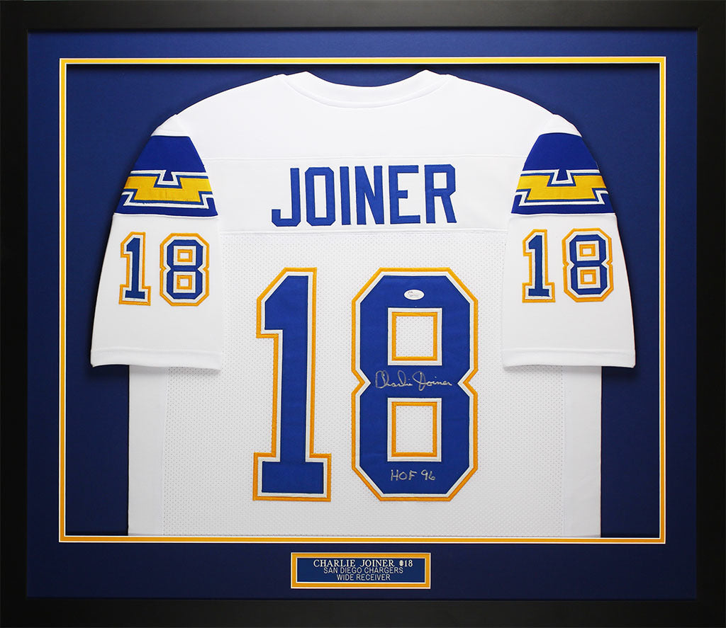 46ebf01b56d Charlie Joiner Autographed & Framed White San Diego Chargers Jersey JS –  Super Sports Center