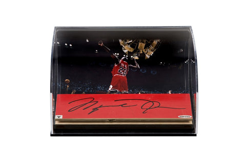 Michael Jordan Autographed Bulls '98 Celebration Photo With Game Used Floor