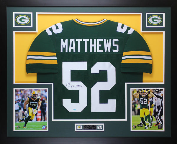 Clay Matthews Autographed & Framed Green Packers Jersey Auto COA (D1-L)
