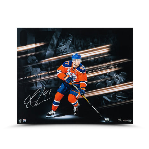 "Connor McDavid Autographed ""Playoff Collage"" 20 x 24"
