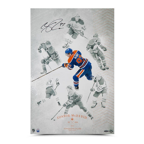 "Connor McDavid Autographed ""On the Rise"" 16 x 24"