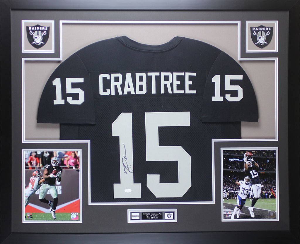 Michael Crabtree Autographed   Framed Black Raiders Jersey Auto JSA CO –  Super Sports Center 69d67f60e