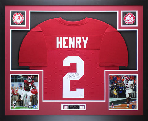Derrick Henry Autographed and Framed Maroon Alabama Jersey Auto PSA COA D2-L