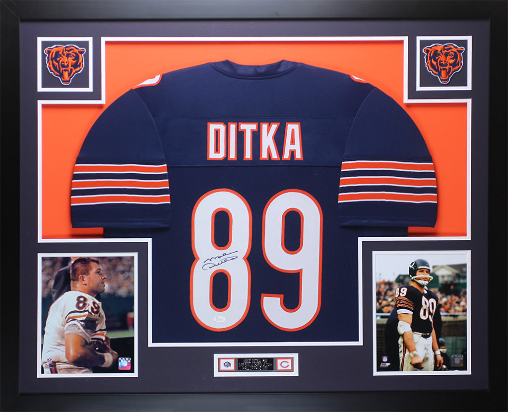 outlet store 0b15b 31b68 Mike Ditka Autographed and Framed Navy Bears Jersey Auto JSA COA D3-L