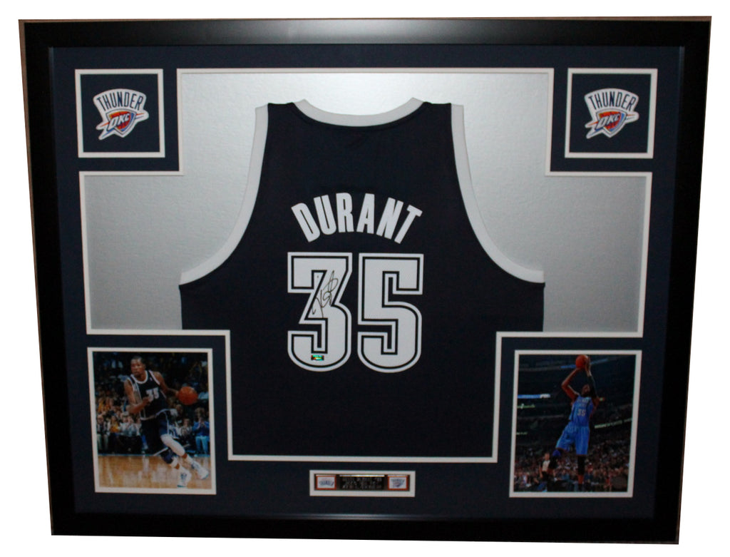 best sneakers 21653 03694 Kevin Durant Autographed and Framed Alt Blue Thunder Adidas Jersey Panini  Certified