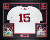 Dustin Pedroia Autographed & Framed White Red Sox Jersey Auto Steiner COA D3-L