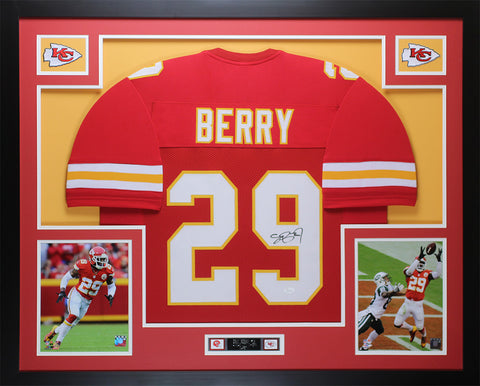 Eric Berry Autographed & Framed Red Chiefs Jersey JSA COA (D1-L)