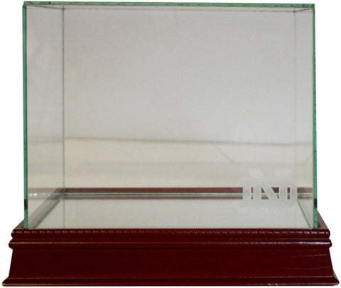 Notre Dame Etched Logo Glass Mini Helmet Display Case