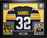 Franco Harris Autographed Signed and Framed Black Steelers Jersey Auto JSA Certified