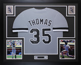 "Frank Thomas Autographed & Framed ""Big Hurt"" Gray White Sox Jersey JSA COA D5"