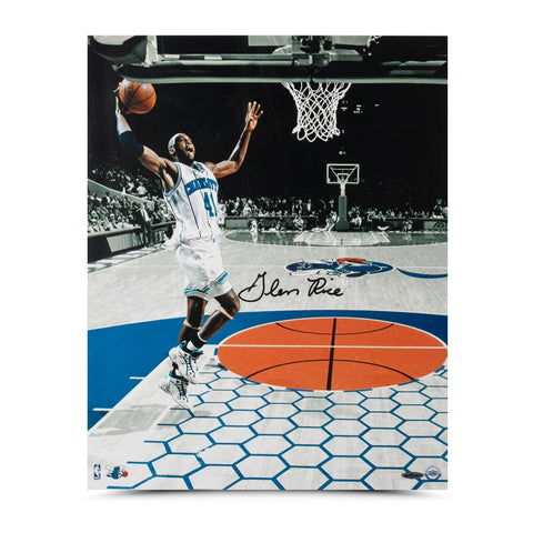 "Glen Rice Autographed ""Attacking the Rim"" 16 x 20"