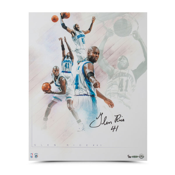 "Glen Rice Autographed ""Buzz"" Collage 16 x 20"