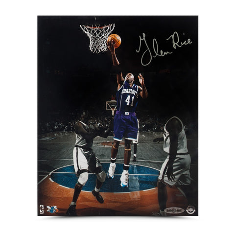 "Glen Rice Autographed ""Layup in the Garden"" 8 x 10"