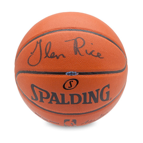 Glen Rice Signed Spalding Indoor/Outdoor Basketball