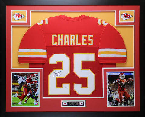 Jamaal Charles Autographed & Framed Red Kansas City Chiefs Auto JSA COA D2-L